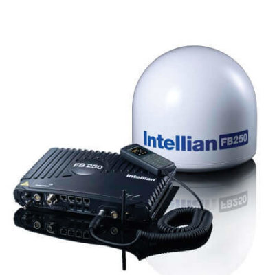 Intellian FB250 FleetBroadband in i4 Dome