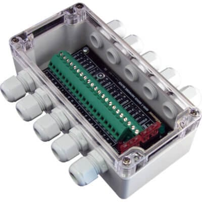 NMEA 2000 Quick Network Block, Breakout box - 6 screw terminal drops - QNB-1