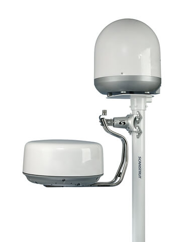 DLMP2-30 Self Levelling Radar Mount Dual Pole