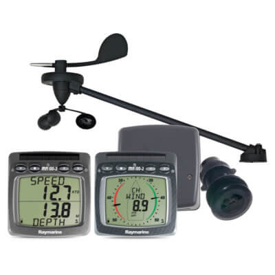 Raymarine T108 Wireless Wind Speed and Depth System with Triducer
