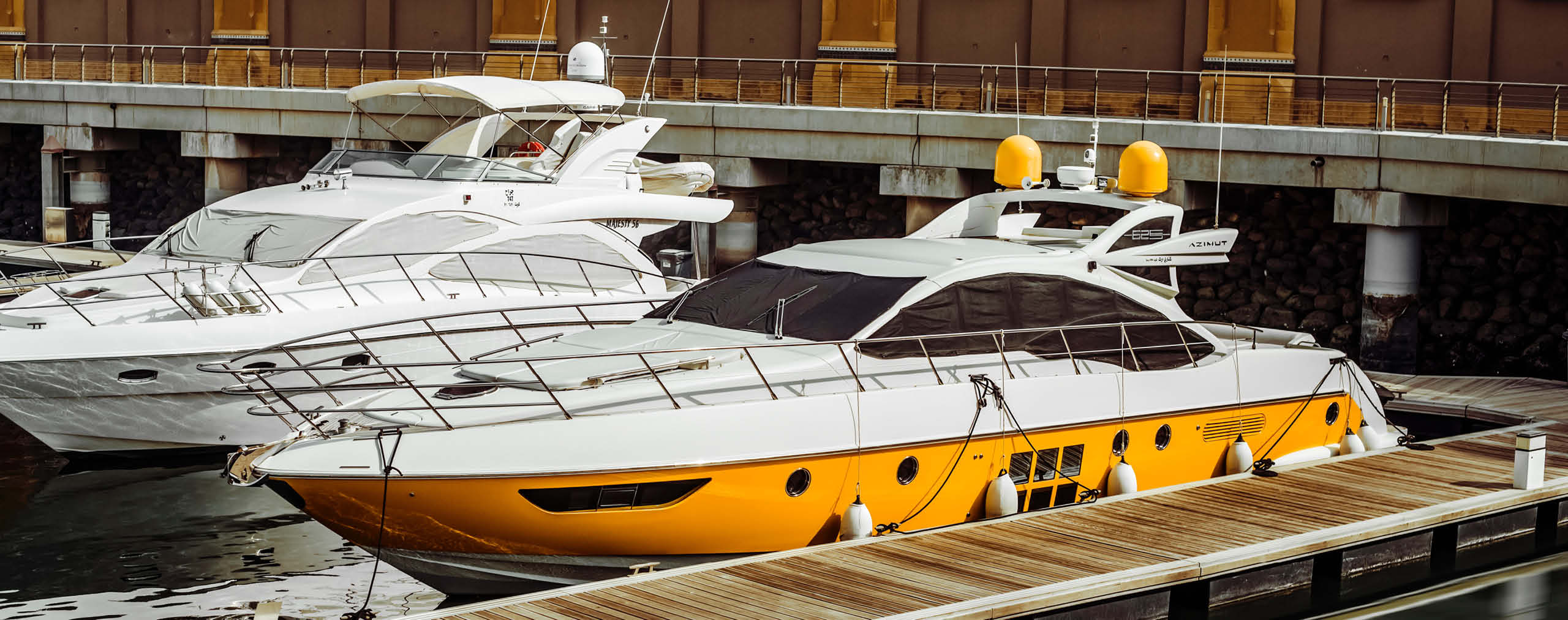 Yachts in the dock