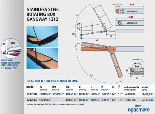 Opacmare Stainless Steel Rotating Box Passerelle 1212