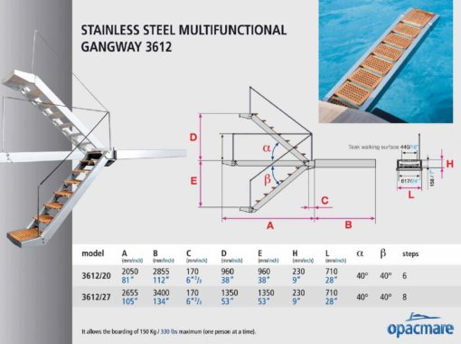 Opacmare Stainless Steel Multifunctional Passerelle 3612