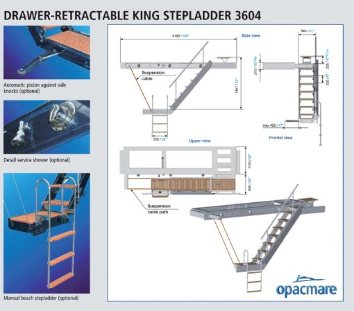 Opacmare Rotating Side Boarding Ladder 3604