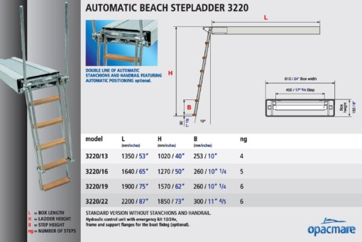Opacmare Automatic Swimming Ladder 3220