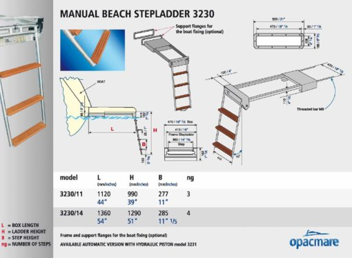 Opacmare Manual Swimming Ladder 3230