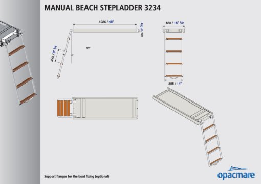 Opacmare Manual Swimming Ladder 3234