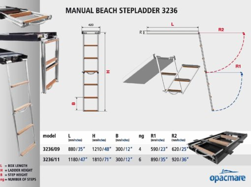 Opacmare Manual Swimming Ladder 3236