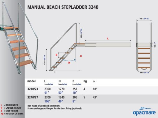 Opacmare Manual Swimming Ladder 3240