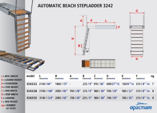 Opacmare Automatic Swimming Ladder 3242