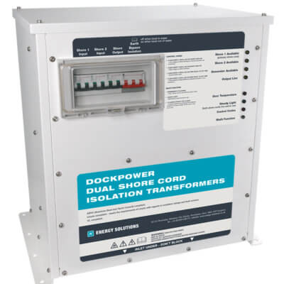 DockPower - Dual shore cord isolation transformer