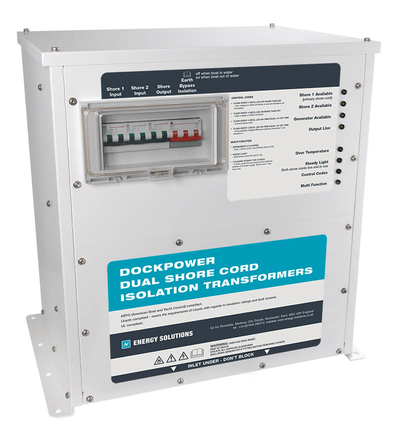 Dual shore cord isolation transformer - Aquamare Marine USA