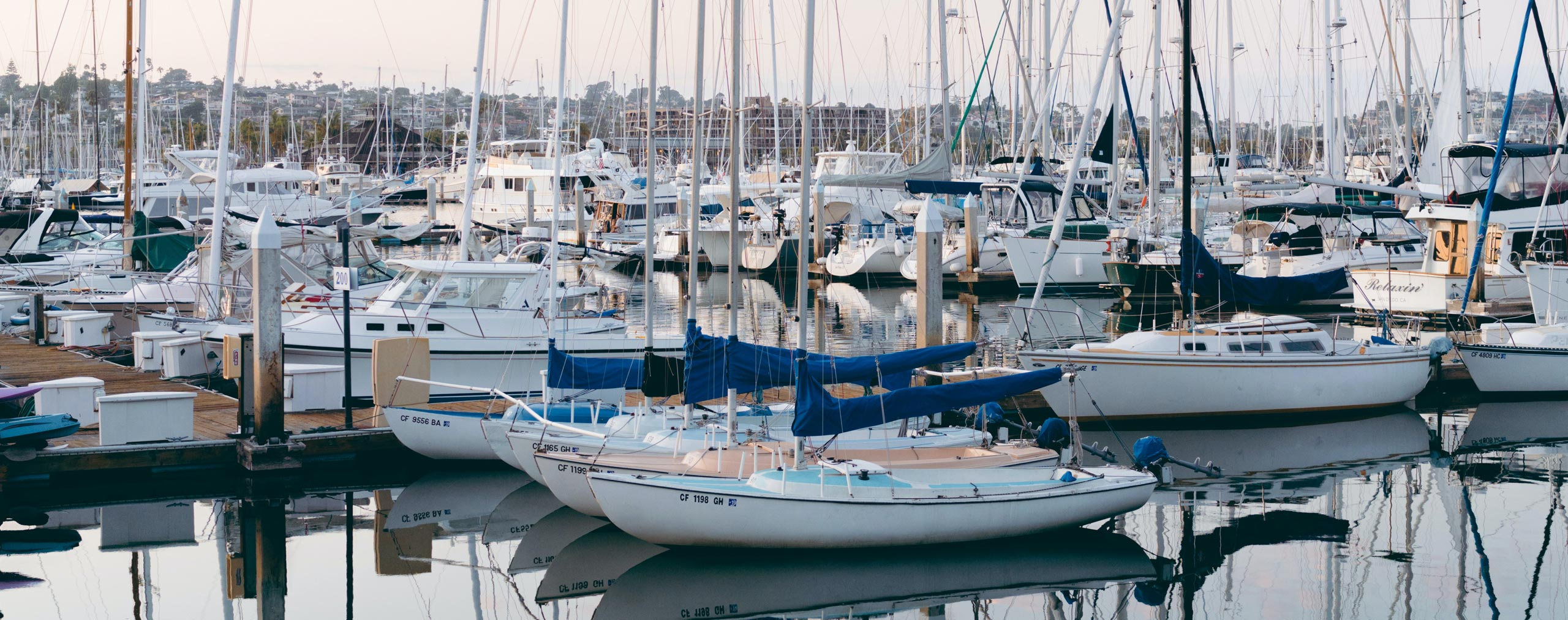 Yachts and boats moored